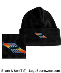 Embroidered Arrow Winter Hat Design Zoom
