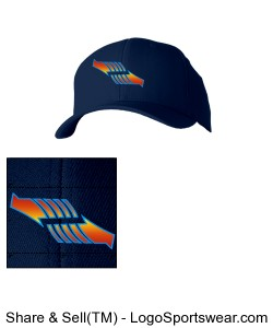 Navy Blue Fitted Arrow Hat Design Zoom