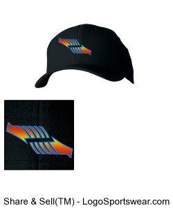 Black Fitted Arrow Hat Design Zoom